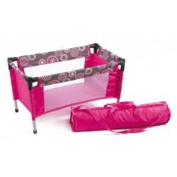 Kelioninė lėlių lovytė (Hot Pink Pearls)